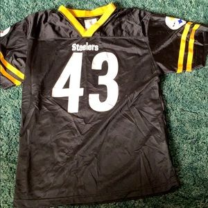 Youth Boys NFL Steelers Polamalu #43.Size XL 18/20